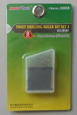 1.0mm-1.7mm Trumpeter 9955  Twist Drilling Auger Bit Set #2 8pcs