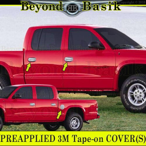 Gas Door For 1997-2004 Dodge Dakota Chrome Door Handle COVERS w//2 Keyholes