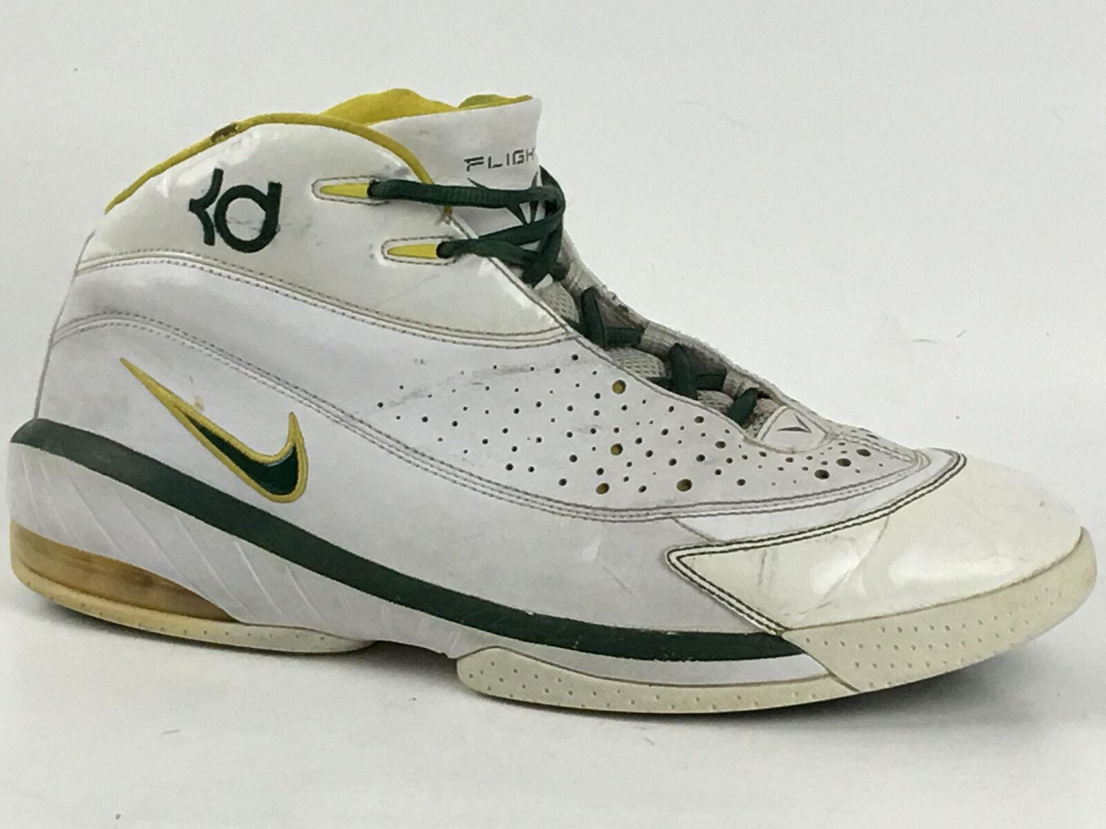 Vintage Kevin Durant Nike KD 1 White/Grn 318111-131 Size US.10.5 UK. 9.5 EU.44.5