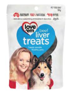 Love-039-Em-Beef-Liver-Treats-Dog-Food-Treats-500g
