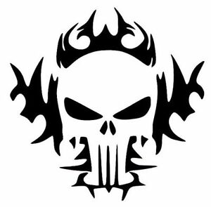 Punisher Flames Funny Skull Cool Car Truck Window Vinyl Decal - Cool vinyl decals