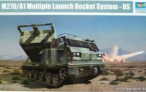 Trumpeter 1:35 M270/A1 Multiple Launch Rocket System U.S. MLRS Véhicule Modèle Kit
