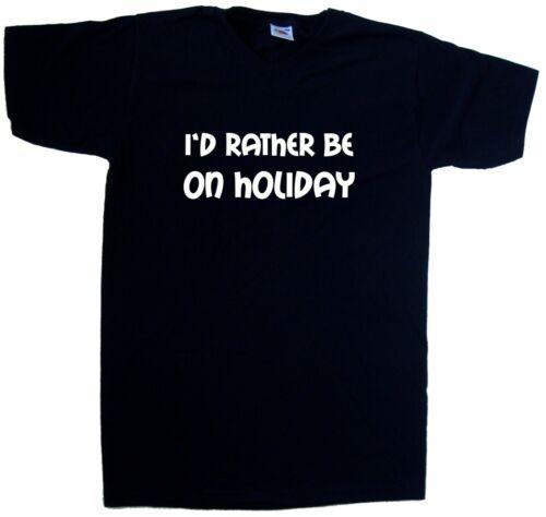 I/'d Rather Be On Holiday V-Neck T-Shirt