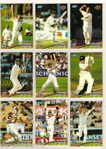 TOPPS ACB GOLD CRICKET TEST STARS CARDS T1 to T16