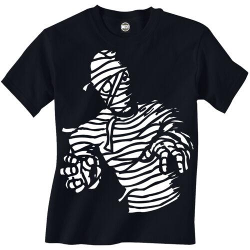 HALLOWEEN SPOOKY ZOMBIE MUMMY BOYS TRICK OR TREAT CHILDRENS FANCY DRESS T-SHIRT