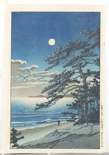 Japanese woodblock print, Hasui Kawase. Lot 465