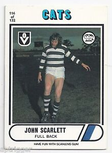 1976-Scanlens-116-John-SCARLETT-Geelong-Excellent