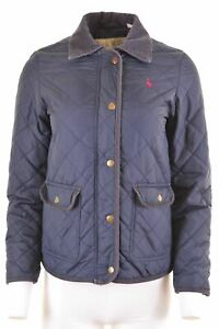 JACK-WILLS-Womens-Quilted-Jacket-UK-8-Small-Navy-Blue-Nylon-MJ72