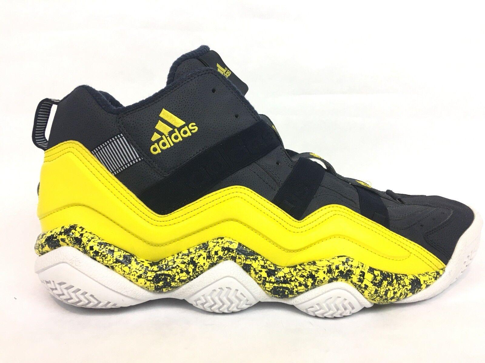 adidas Top Basketball Ten 2000 Kobe Bryant Basketball Top Shoes / Navy Yellow White / Men's 20 ac95bd