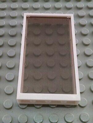 LEGO White 1x4x6 Window Frame with Translucent Black Glass