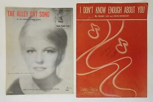 Peggy-Lee-Lot-of-2-The-Alley-Cat-Song-I-Don-039-t-Know-Enough-About-You-1962-1946