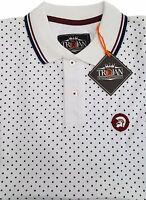 Mens Trojan Records Polkadot Cotton Polo Shirt Tr8179 Mod Ska - White