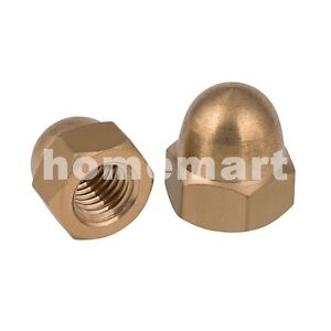 NEW-HQ-Brass-Hex-Domed-Nut-Acorn-Cap-Nuts-M3-M4-M5-M6-M8-M10-M12-M14-M16-M18-M20