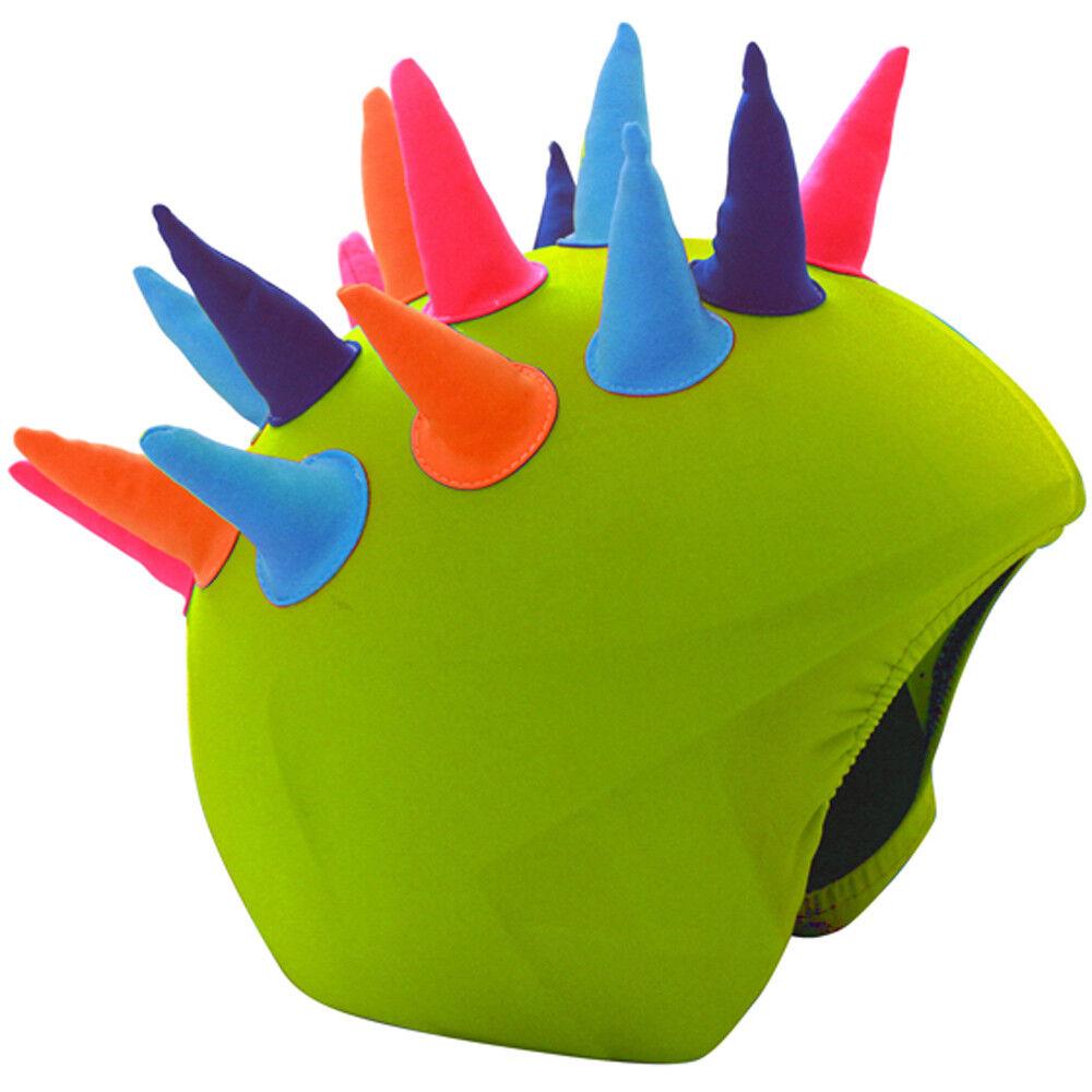 Manbi Cool Casc Show Time Kids Ski Helmet Cover, Neon Horns