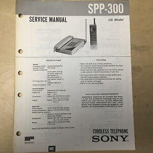 sony service manual for the spp 300 cordless phone repair ebay rh ebay com sony telephone it-b3 manual Telephone Sony Xperia