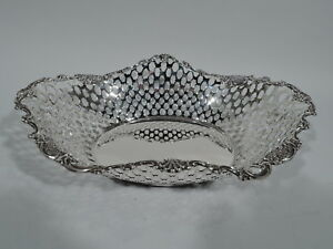 Tiffany-Basket-15517-Antique-Edwardian-Bowl-American-Sterling-Silver