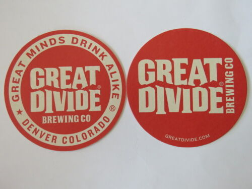 Beer Coaster ~ GREAT DIVIDE Brewing Co ~ Great Minds Drink Alike ~ COLORADO