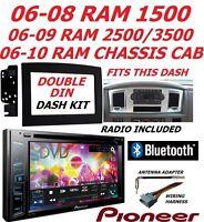 06 07 08 09 10 Pioneer Dodge Ram Stereo Radio Double Din Installation Dash Kit