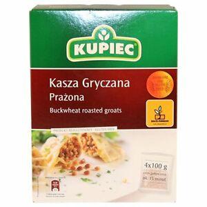 Kupiec-Kasza-Gryczana-Prazona-Buckwheat-Roasted-Groats-4x100g-Box-Free-Shipping