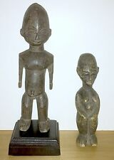 LOBI PEOPLE GROUP OF TWO (2) WOOD STATUES OF MALE & FEMALE - FROM BURKINA FASO