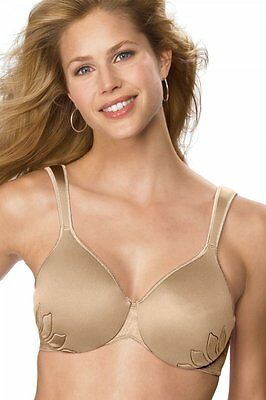 34D Bali Live it Up Side Shaping Bra Cushioned Straps Tan warm steel  #3353
