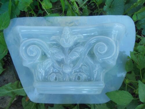 """Plastic wall sconce mold plaster concrete casting mould 9/""""W x 5.5/"""" x up to 2/"""""""