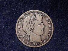 1913 50C Barber Half Dollar