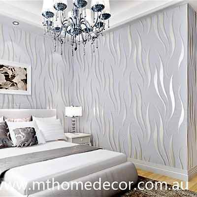 Home Luxury Modern WALL PAPER WALLPAPER ROLL EMBOSSED FEATURE 3D TEXTURED
