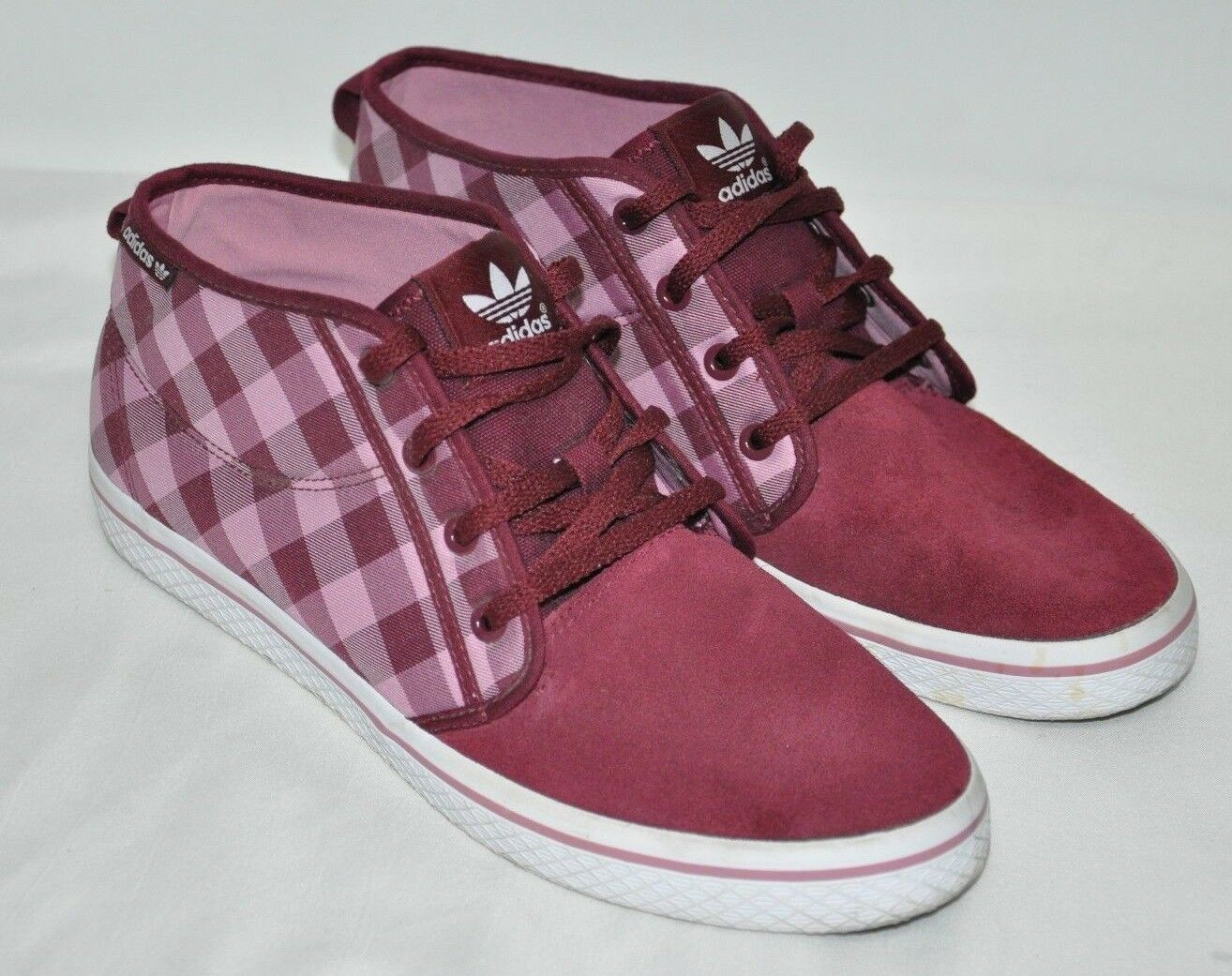 Womens Adidas Purple Plaid Suede Tennis Shoes Sneakers 1/2 Size 10 US 8 1/2 Sneakers UK 9ad3c3