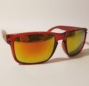 La foto se está cargando Oakley-Holbrook-Pulido-marco-rojo-lente-gafas-de- 44631daa71
