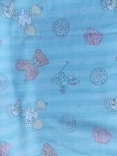 Estate Fabric 2004 Precious Moments Spectrix Bears Bird Baby Child Animal Quilt