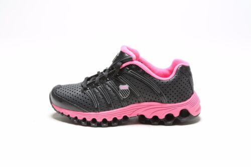 VINTAGE 2011 K-SWISS GIRLS/'  TUBES RUN 100 82281051 BLACK//PINKBERRY