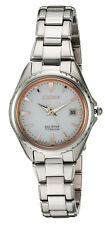 Citizen EW2410-54A Women's Eco-Drive Titanium Silver Dial 3-Hand Date Watch