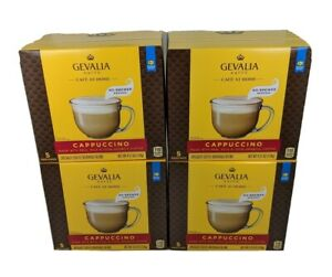 GEVALIA KAFFE CAPPUCCINO COFFEE & FROTH MIX 4 BOXES x 5 ...