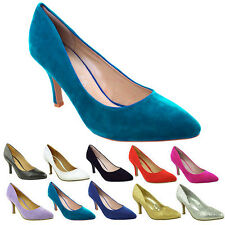 item 2 WOMENS LADIES LOW MID KITTEN HEEL PUMPS POINTED TOE COURT WORK  OFFICE SHOES SIZE -WOMENS LADIES LOW MID KITTEN HEEL PUMPS POINTED TOE  COURT WORK ...