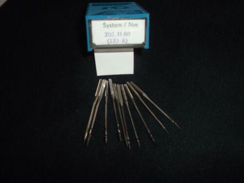10 Stück Nähmaschinennadeln System 705 H Flachkolben