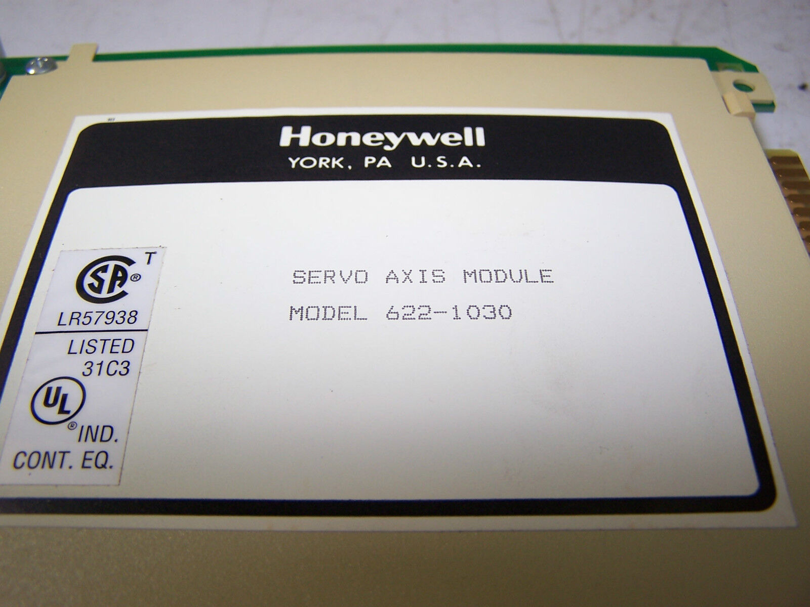 622 1030 HONEYWELL 622-1030 SERVO AXIS MODULE MODEL No