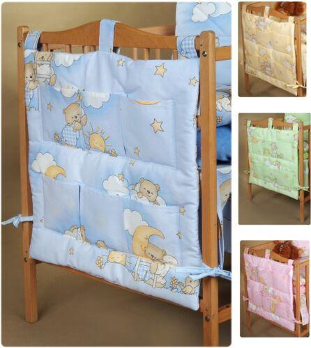 Baby Betttasche 60x60 Spielzeugtasche Windelntasche Bärchen für Babybett