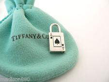 Tiffany & Co Silver Ace Spade Spades Padlock Pendant Charm for Necklace Bracelet