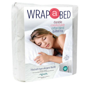 Wrap-A-Bed-3-4-Bed-Quilted-Mattress-Pad-Fitted