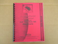 Parts Manual 54 Plow Snow Blade 1050a Bucket Loader For Cub 154 185 184