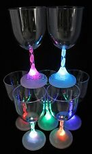 4 LIGHT UP LED FLASHING WINE GLASSES BARWARE EACH GLASS CAPABLE OF 7 COLORS