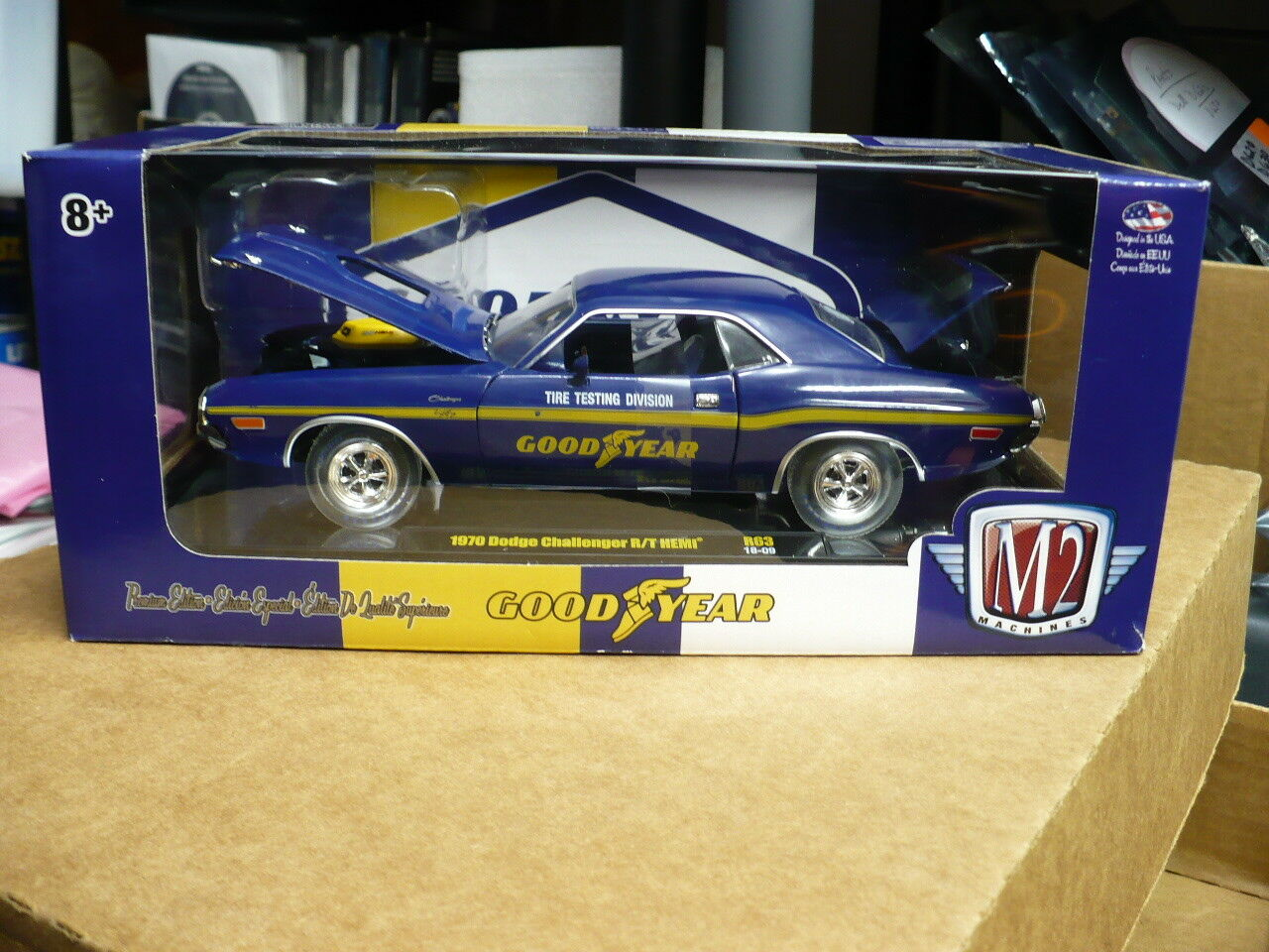 1 24th Goodyear 1970 Dodge Challenger R T-CHASE 1 of 500 -New in box