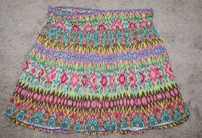 Ingenious Nwt Lane Bryant 18/20 Ikat Flippy Skirt 2x Pull On Knit Soft And Comfy Women's Clothing