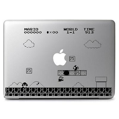 "Mario Gaming Vinyl Decal Sticker Skin for Macbook Air & Pro 11"" 13"" 15"" 17"""