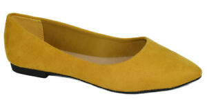 a8259692abd8 City Classified Women Flat Shoes Wide Width Fit Pointy Yellow ...