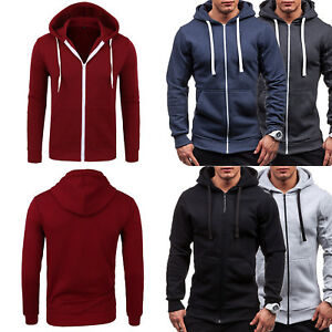 Mens-Winter-Warm-Thicken-Hoodie-Hooded-Jacket-Jumper-Sweater-Zip-Up-Tops-Shirts