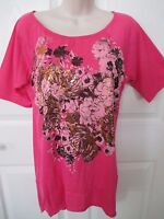 - Simply Irresistible Women's Pink Top W/metallic - Sz L - Msrp $34.00