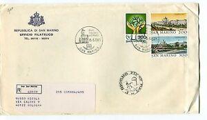 1981 Fdc San Marino Anno Handicappati Wipa 81 Filat Raccomandata First Day Cover