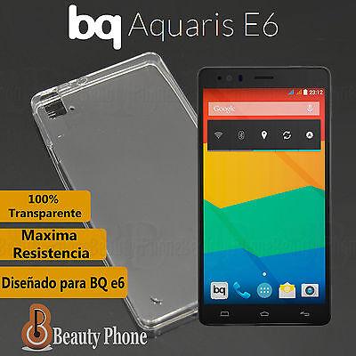 FUNDA TPU ¡¡ 100% GEL SILICONA !! TRANSPARENTE PARA BQ AQUARIS E6 nuevo Premium